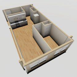 1 Bedroom Type B_3D